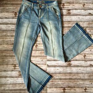 American Rag • Super Cute Flare Jeans Frayed Hem